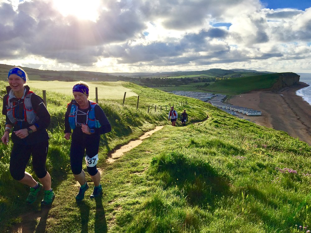 The day I got paid to run a big chunk of the path! Working as a running guide, sweeping back markers on the brilliantly organised Jurassic Coast 100 by Climb South West. If you want to see bloody minded grit and determination: hang out at the back of an Ultra through the night - that's where the real heroes are.