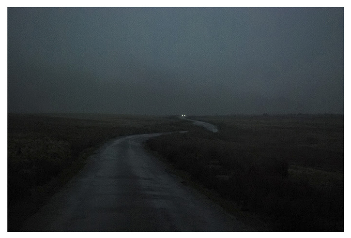 Road in the Rain by Kate Kirkwood. Kate's image is full of high ISO noise, anathema of camera testing websites, but the excellent concept and execution easily trump that. Image by kind permission, copyright Kate Kirkwood.