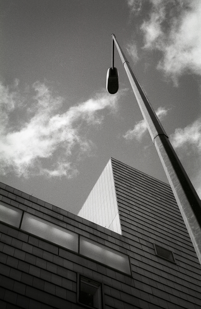 Walsall Art Gallery shot with Ilford FP4+ film and a yellow filter