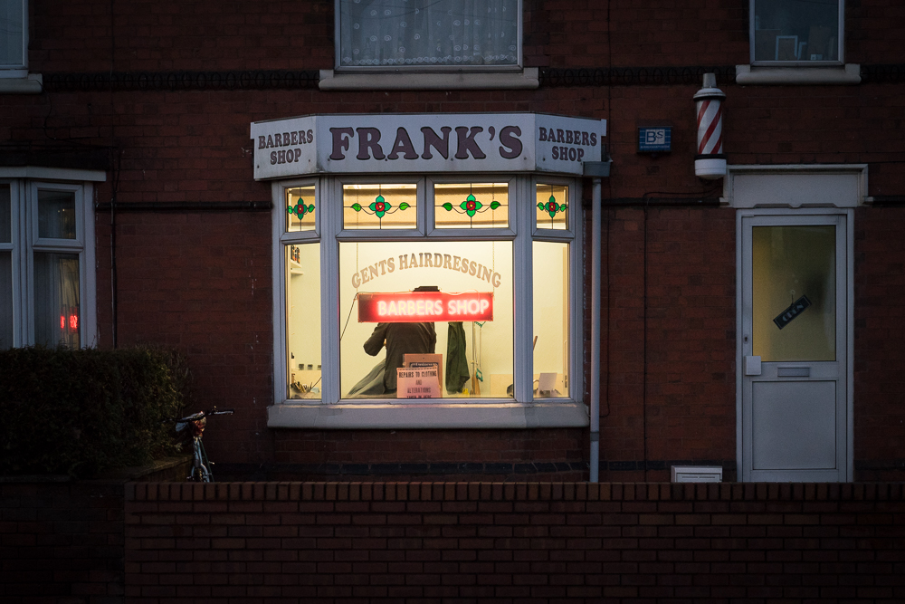 Frank's Barber's Shop. Shot on a Sony A7II with an 85mm lens
