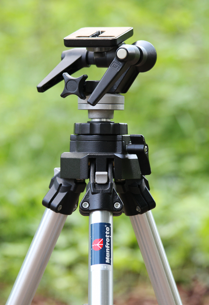 My trusty Manfrotto aluminium 055C tripod.