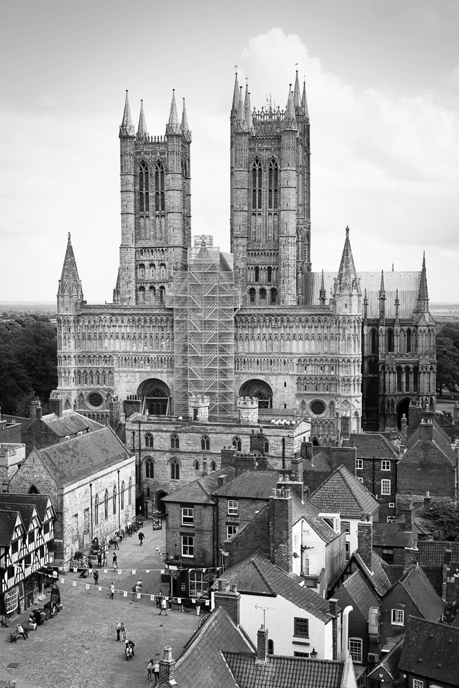 Lincoln Cathedral, as seen from the Castle. Sony A7II with 55mm lens.