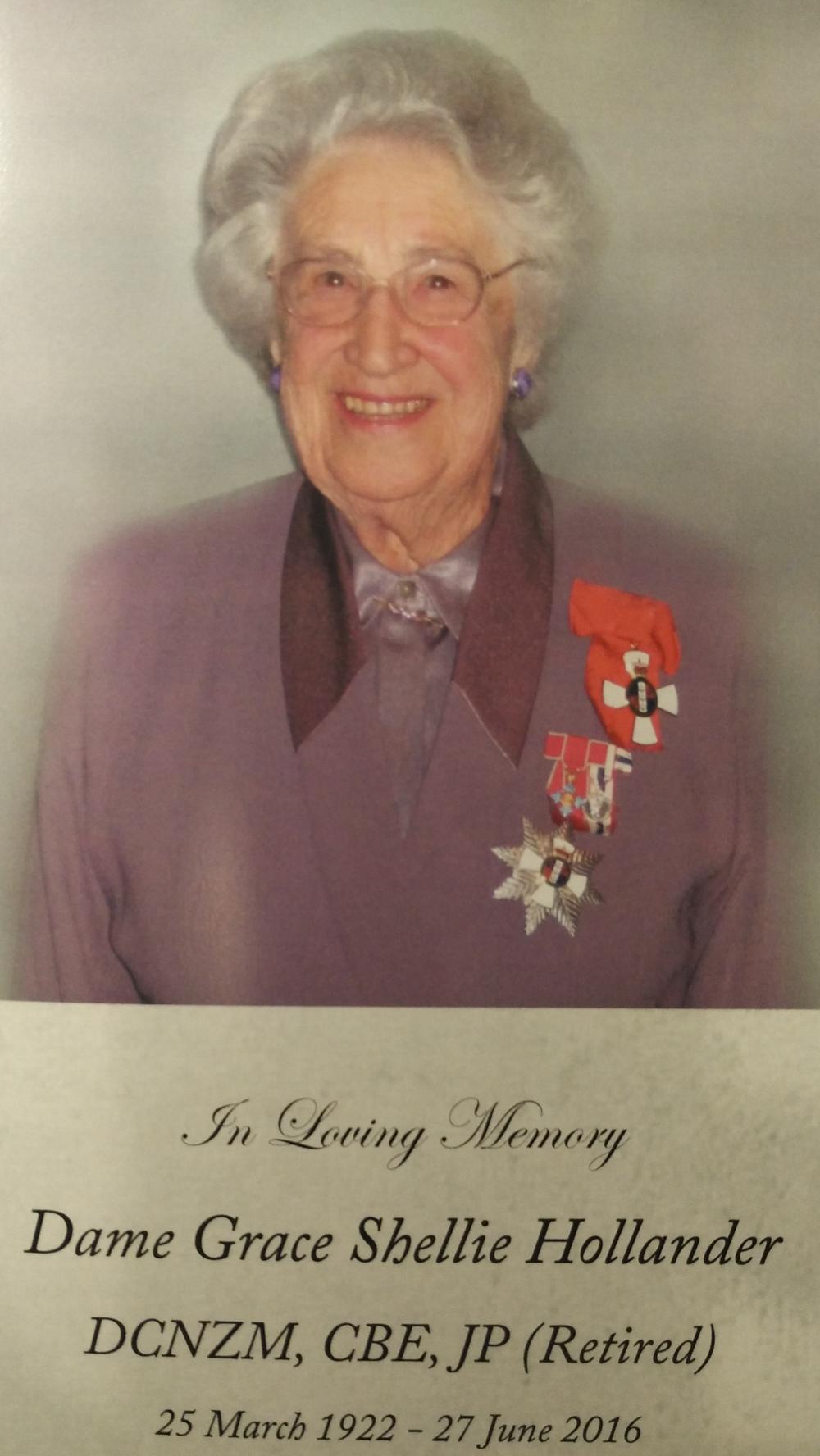 Courtesy: Dame Grace Hollander's family