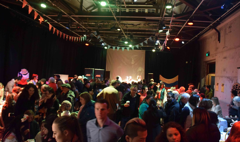 The Arts Centre was jam-packed throughout the evening