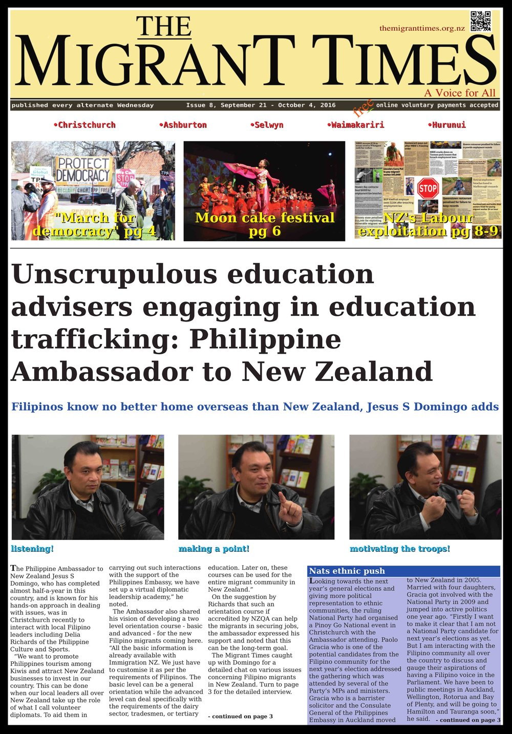 Click on the image to read the pdf version Issue 8, September 21 - October 4, 2016