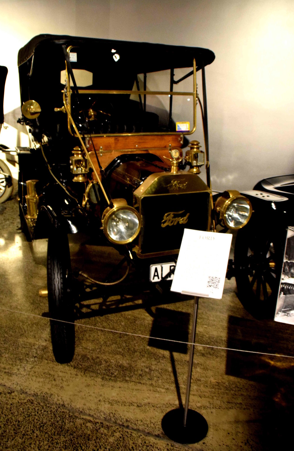 Ford Model T on display in the museum. First produced in 1908, it was the car which 'put America on wheels', as it was the first car to be built on a moving assembly line.