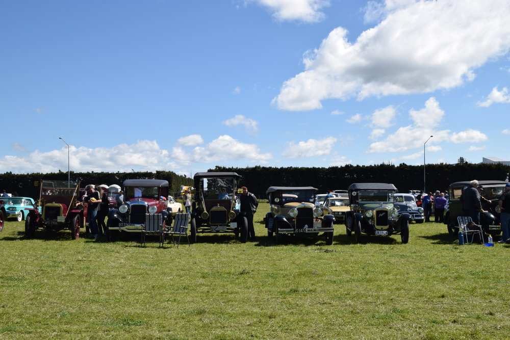 Vintage cars display