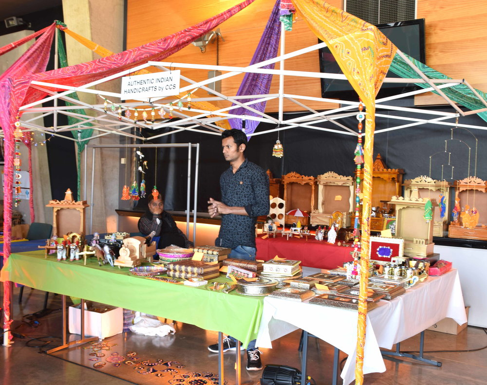Traditional Indian artefacts were on display as well