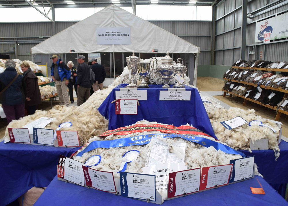 The best wool in Canterbury; selections for the New Zealand team to participate in next year's World Shearing Championship to be held in Invercargill, also took place during the Show