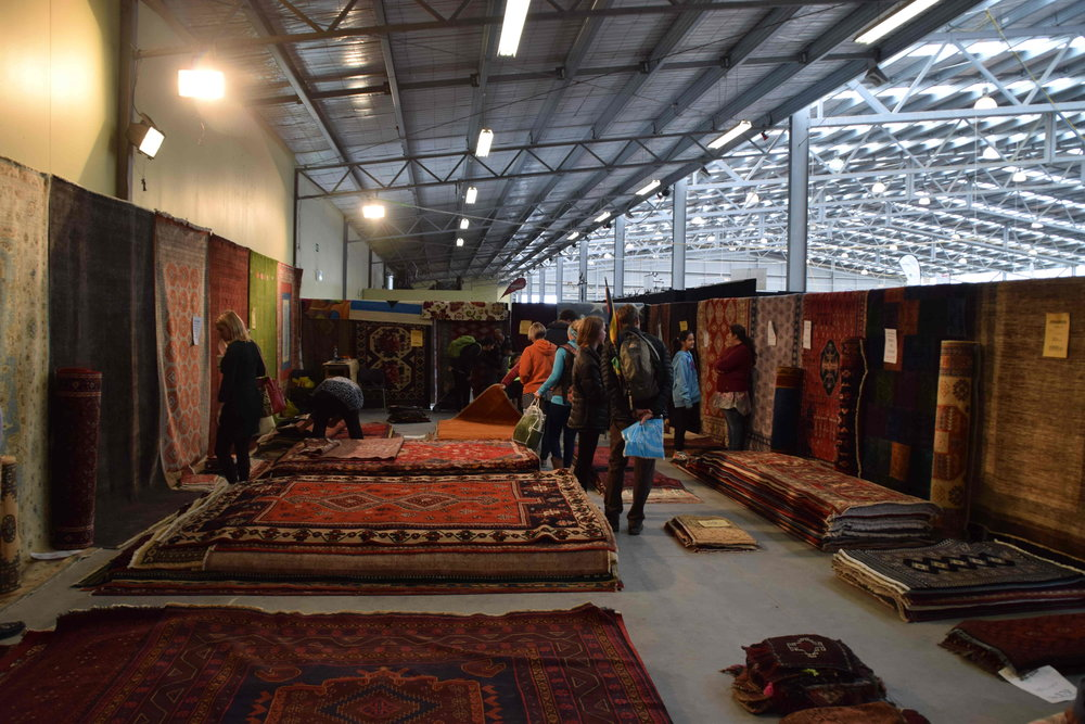 Persian rugs added colour to the trade pavilion