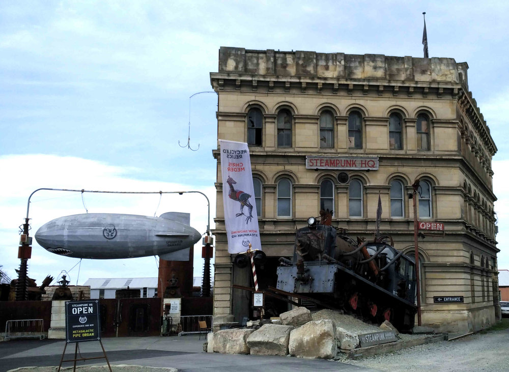 2015 gave an unexpected but welcome boost to Oamaru's Steampunk HQ, New Zealand's premier Steampunk experience. To those who have seen Charlie Theron fought for survival in George Miller's Mad Max: Fury Road, the HQ will be an experience no less. And yes, don't forget to visit The Portal. What's that you ask? Ask the man at the counter. This year's Steampunk festival weekend is June 1-5.