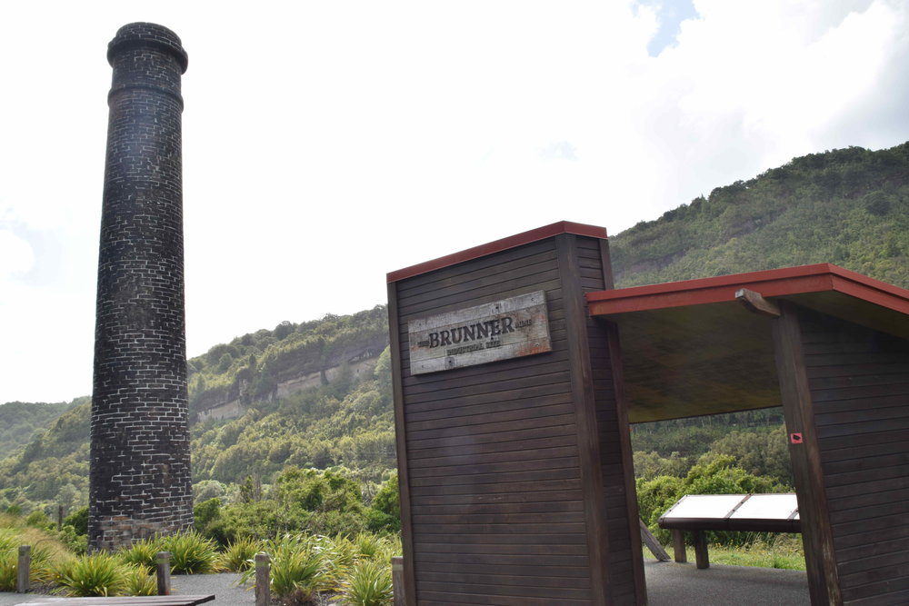 Historic Brunner Mine, which was the country's earliest industrial sites where coal was mined and coke, firebricks and other products were manufactured from the 1860s until the 1940s. About 11km from Greymouth.