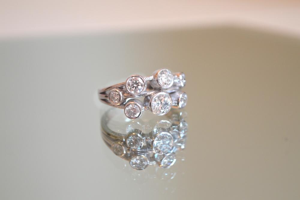 £3495 ~ Handmade 18ct White Gold 1.39ct Diamond Ring