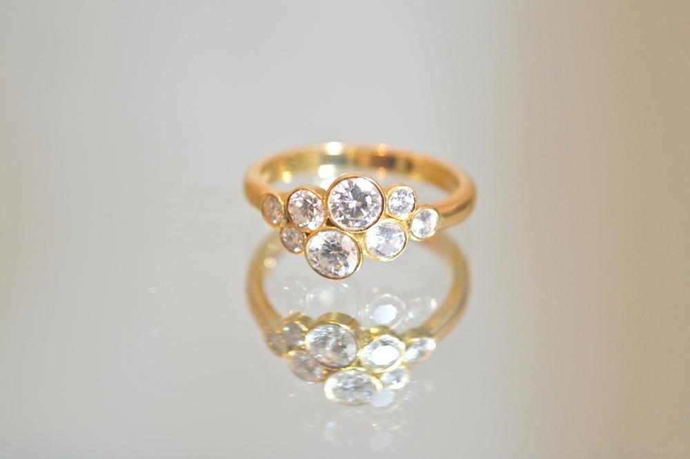 £1950 ~ Handmade 18ct Gold 1.15ct Diamond Ring