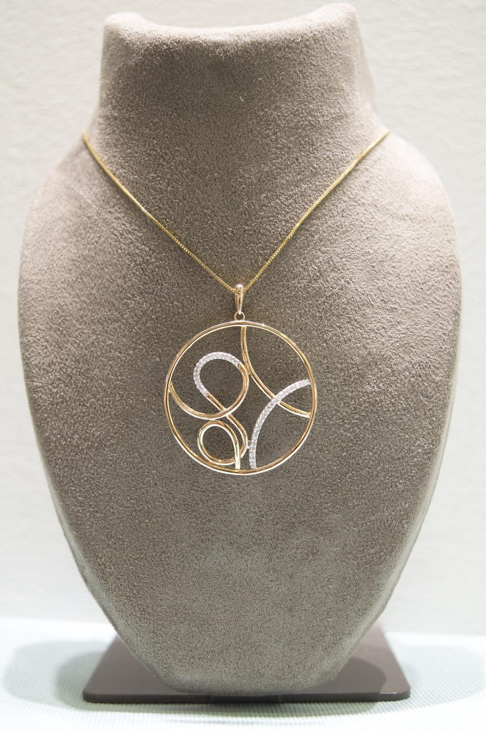 £275 - Diamond 9ct Yellow Gold Pendant