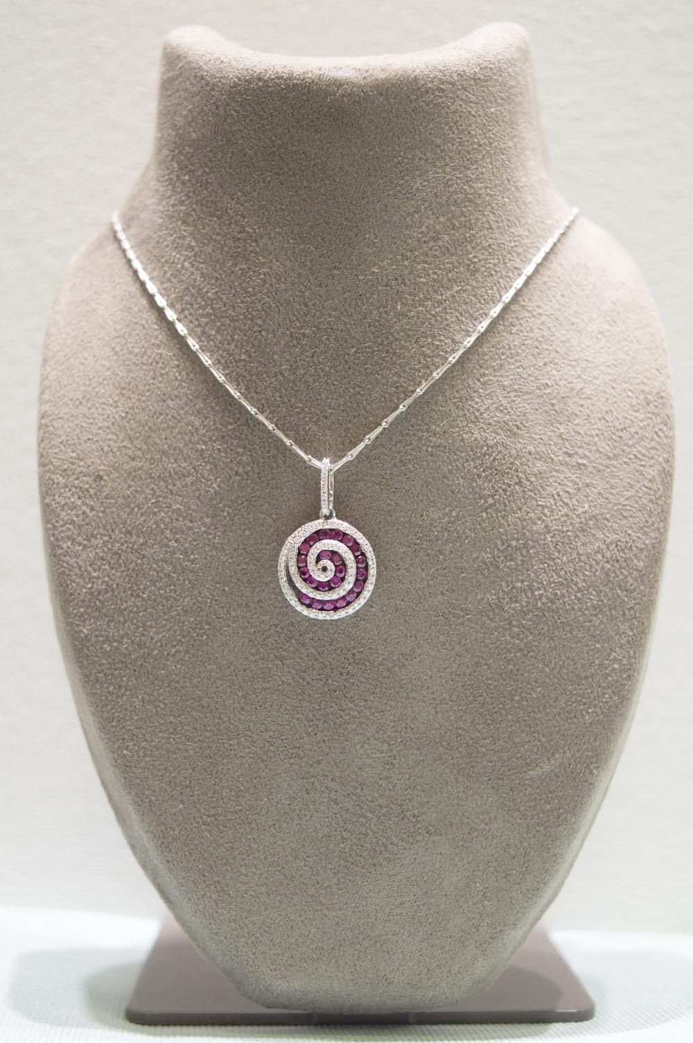 £1270 - Diamond & Ruby Pendant