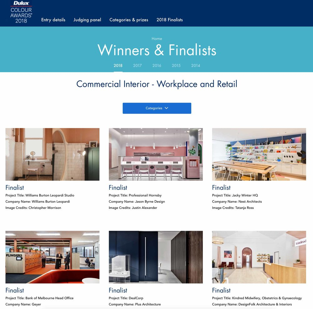 DULUX COLOUR AWARDS 2018   FINALIST