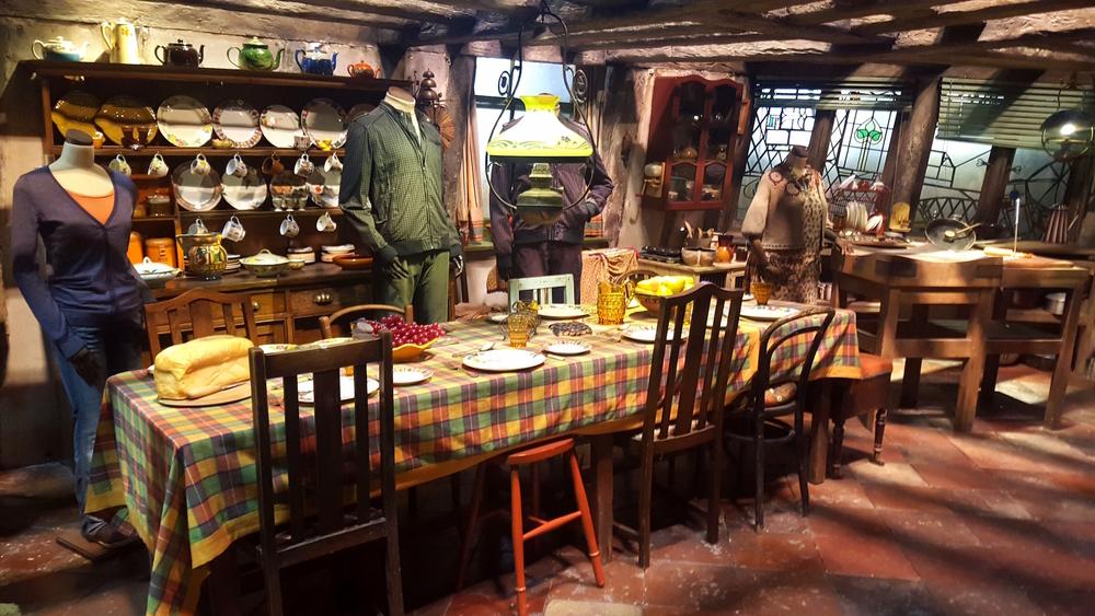 inside the Weasley's Burrow