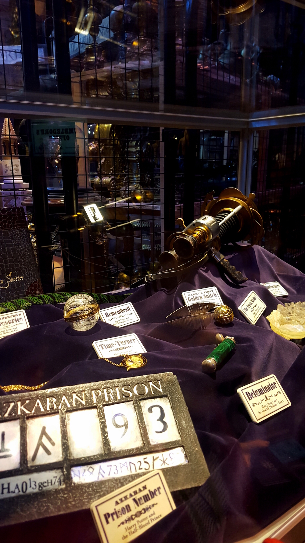 Various props from the Harry Potter movies