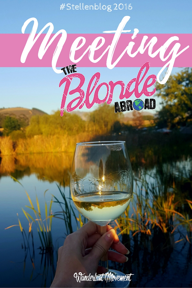 Meeting The Blonde Abroad at Stellenblog 2016 | Wanderlust Movement