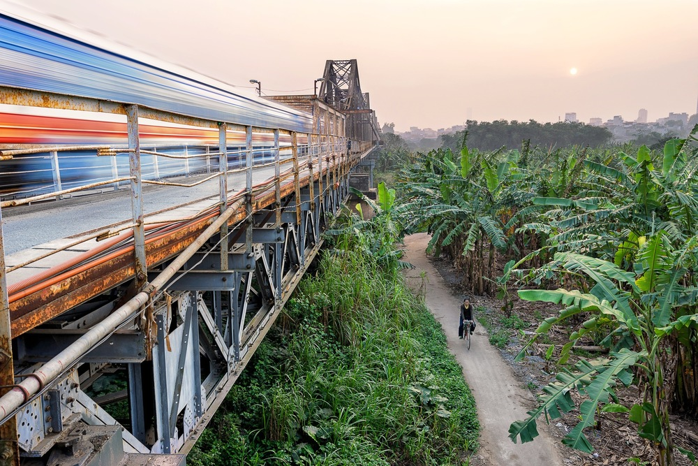 Train travel in South India