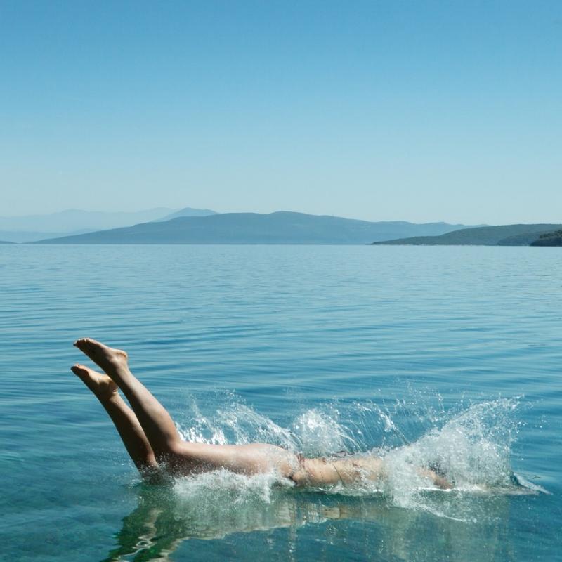 Jumping into the ocean | Wanderlust Movement