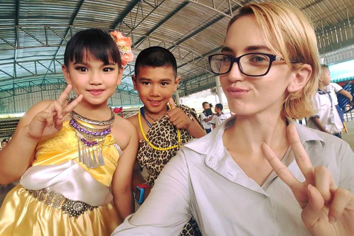 Selfies with my students in Thailand | Wanderlust Movement