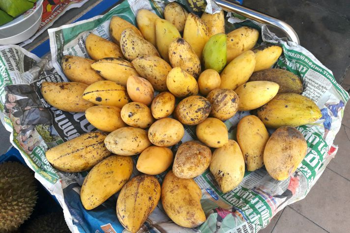 Mangoes on the street in Ubon | Wanderlust Movement