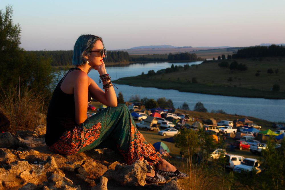 Sunset at Mieliepop Festival | Wanderlust Movement