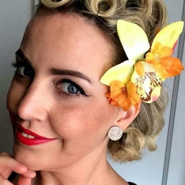 Pinup tropical hair accessory, £8 plus P&P from  Rubyboomakes .