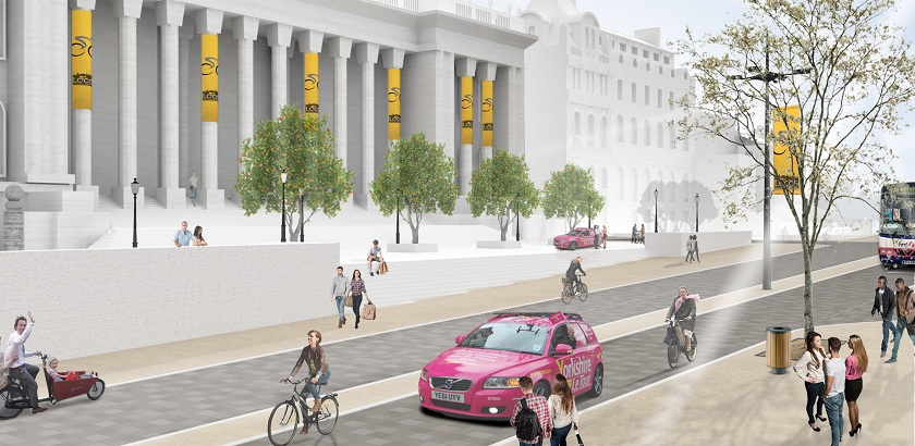 Cycle street concept – Headrow, Leeds