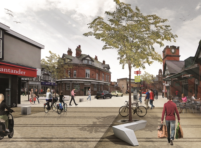 Shared space concept – West Kirby