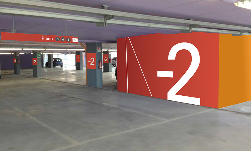 Vehicular and pedestrian internal wayfinding and signage