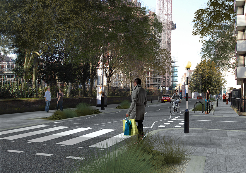 Visualisation of Paddington Street Rain Gardens