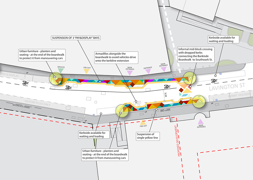 Highway design for Lavington Street