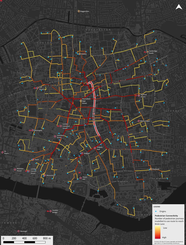 Pedestrian connectivity analysis