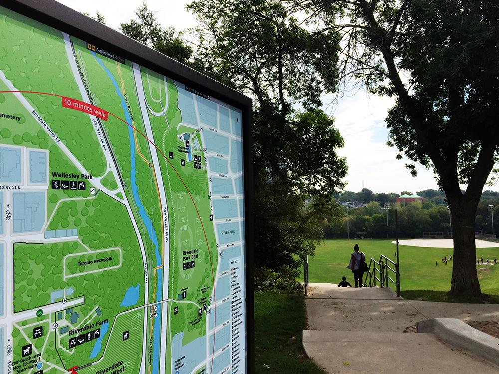 Pilot Riverdale Park map sign