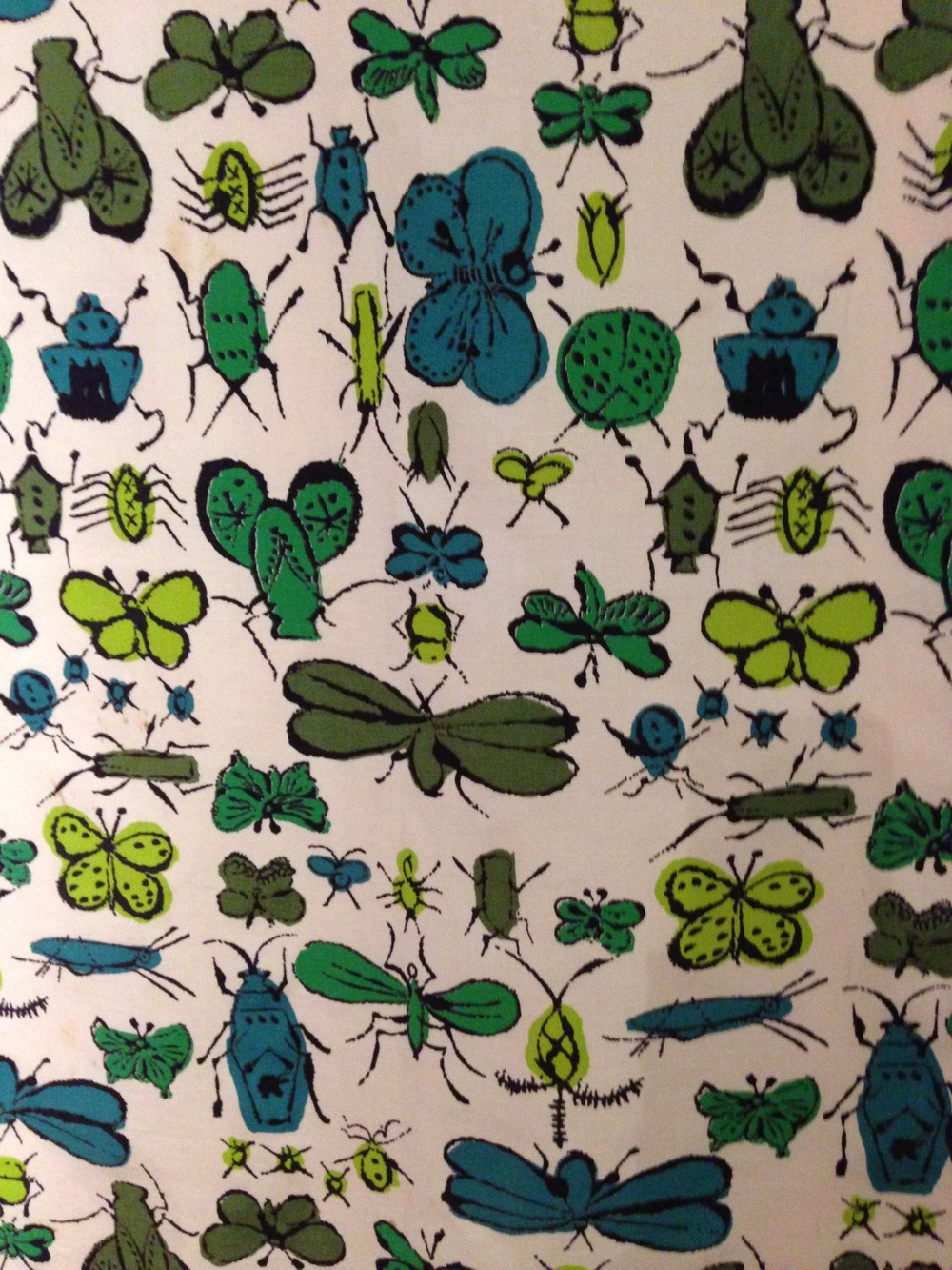 ANDY WARHOL, HAPPY BUG DAY SERIES 1950'S, REPEAT PATTERN PRINT