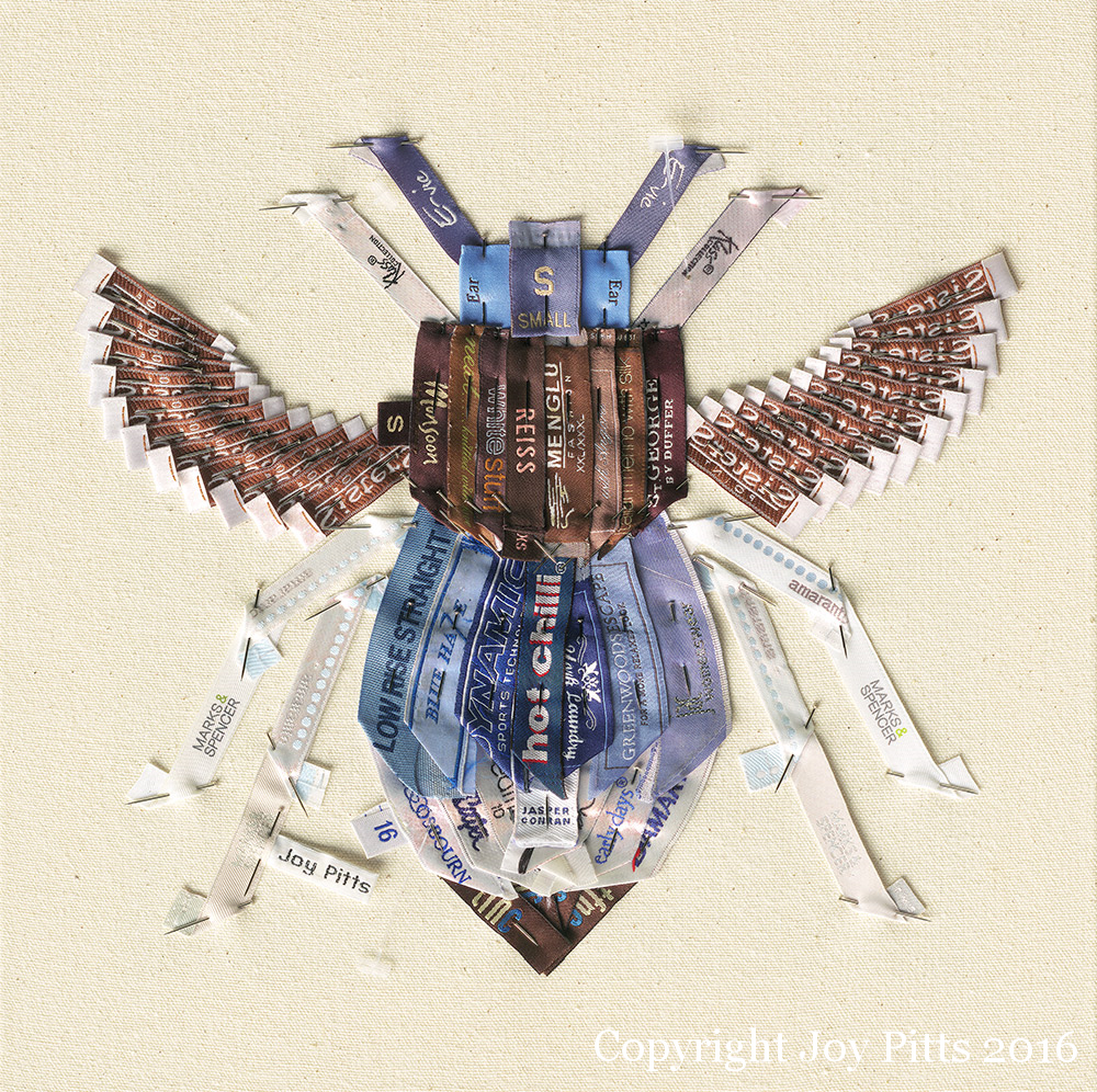 'Blue Bee with 63 garments' - Original available and Limited Edition Giclee print.