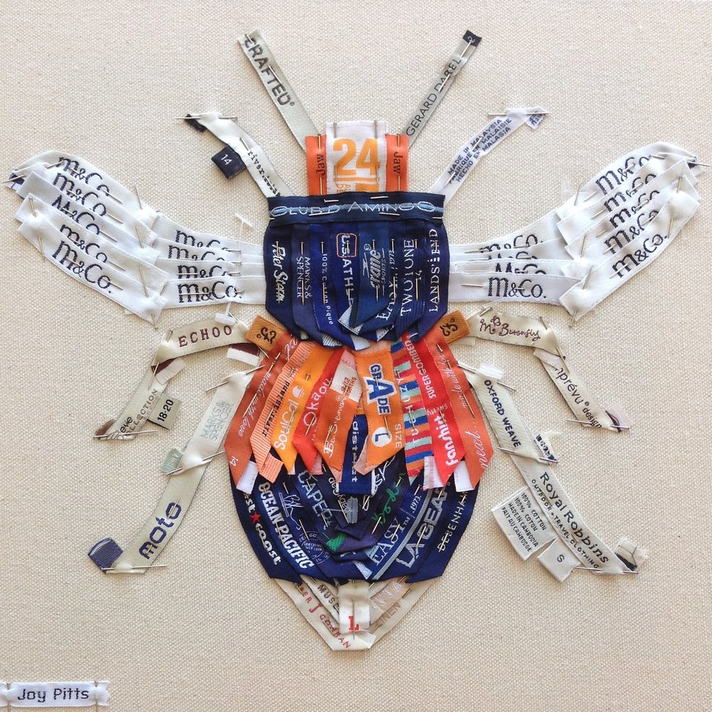 'Orange Bee with 69 garments' - original SOLD.
