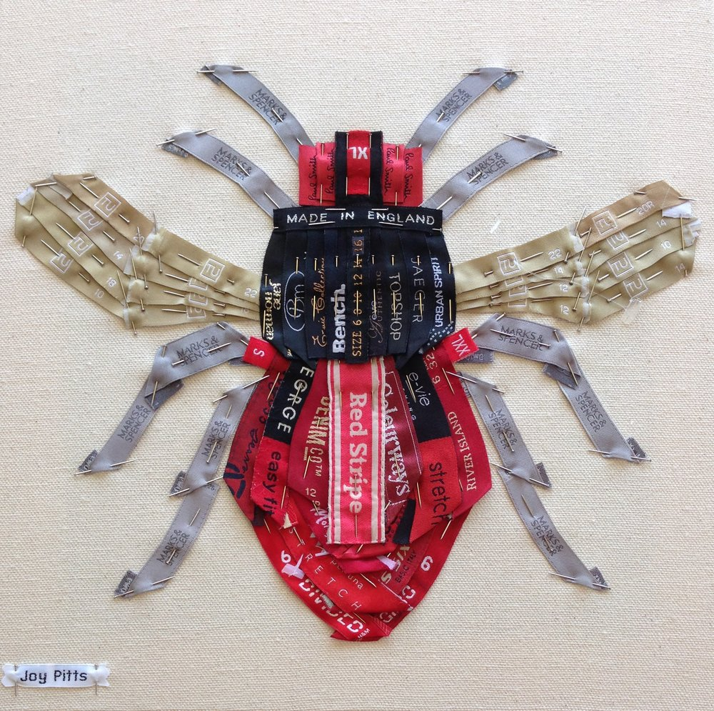 'Red Bee with 58 garments' - original SOLD.