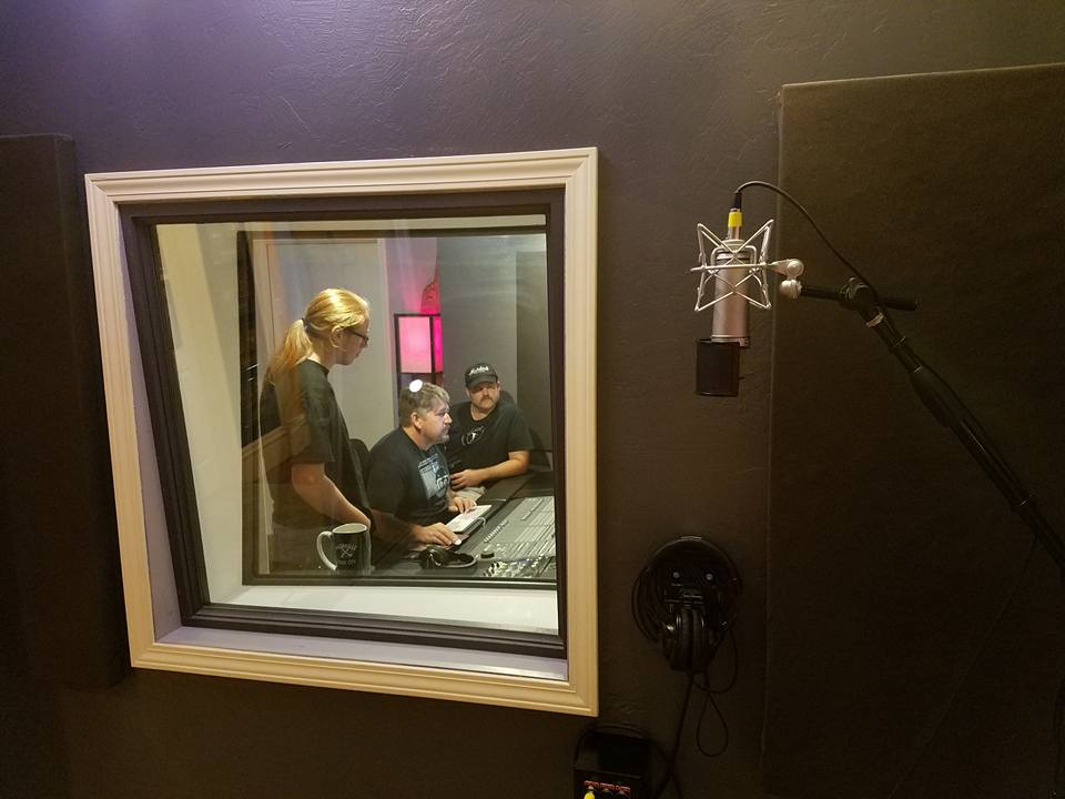 From the vocal booth