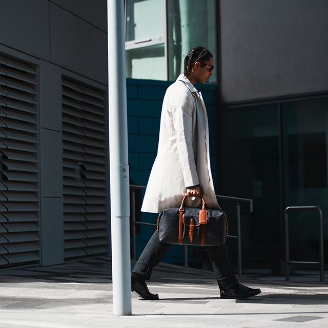 Our Haut pieces seen on commute story for @hypebeast x Mulberry. Wearing '00 Helmut Lang coat + 80's Issey Miyake oversized coat + Katharine Hamnett trousers. Stylist @samth0mps0n Thanks Sam