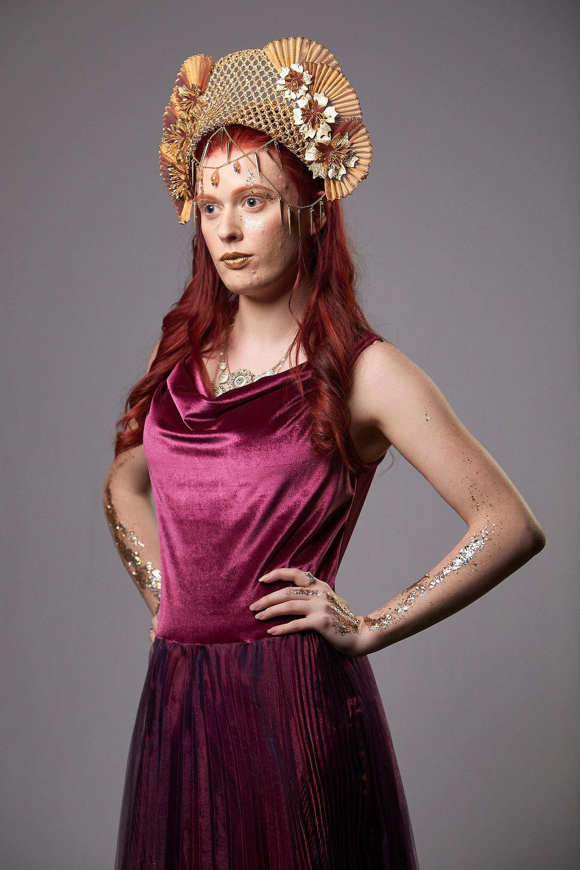 """""""Hathor"""" Golden Floral Headpiece"""