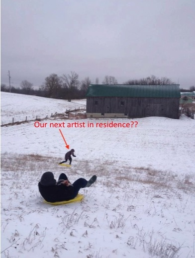 Sasquatch sighting on the sledding hill! .jpg