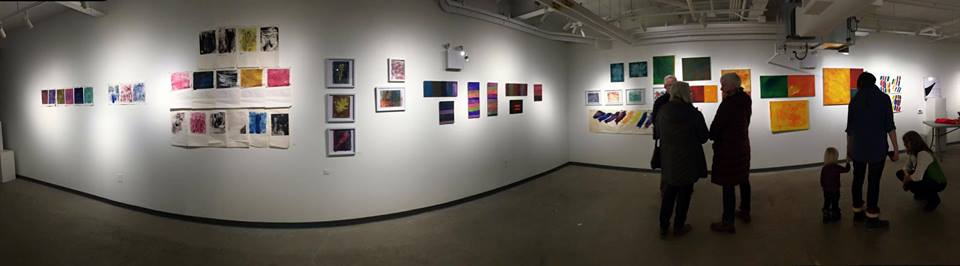Exhibition of program participants Keifer Blight & Nicolas Stiener Bell, The Tett Centre for Creativity & Learning, Kingston, ON 2017