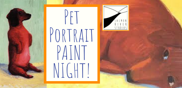 "Friday, November 16, 2018 at 7 PM – 9 PM  Bon Eco Studio 12 Concession St N, Tamworth, ON K0K, Canada (Main St.)  Come kick off the season of paint nights with an evening of pet portraits! You provide the 8""x10"" photocopy of your furry friend and Gabriel will provide all materials and instruction.  Paint Nights are $35 and all skill levels are welcome! email gabriel@salmonriverstudios.com to reserve your spot and Gabriel will be in touch with further info~"