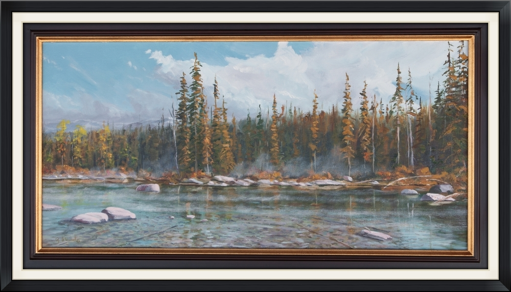 High Mountain Lake 15x30 Original Oil