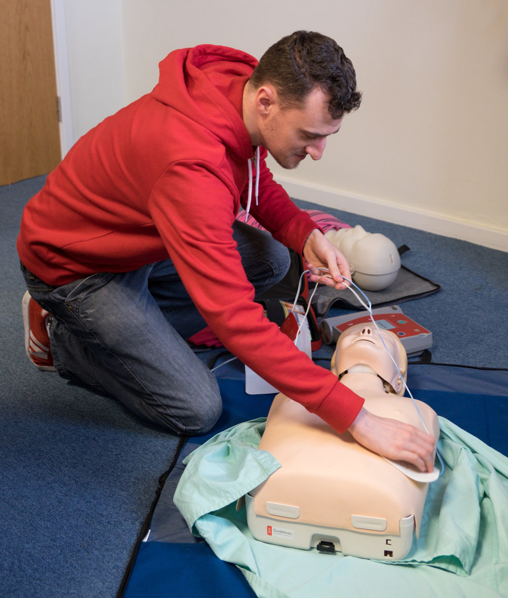Matt learning to save lives - Photos by CAtherine Knee