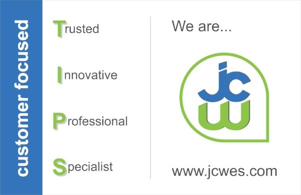 JCW Feedback Card